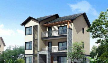 SB3005 – Nhà biệt thự khung thép nhẹ lắp ghép 3 tầng 4 phòng ngủ
