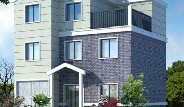 SB3007 – Nhà biệt thự khung thép nhẹ lắp ghép 3 tầng 5 phòng ngủ
