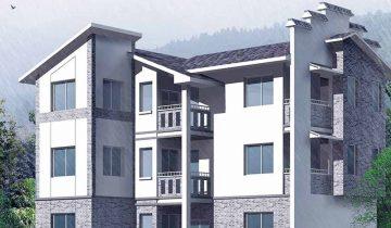 SB3013 – Nhà biệt thự khung thép nhẹ lắp ghép 3 tầng 5 phòng ngủ