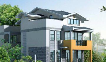 SB3015 – Nhà biệt thự khung thép nhẹ lắp ghép 3 tầng 5 phòng ngủ