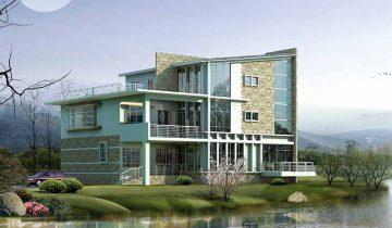 SB3004 – Nhà biệt thự khung thép nhẹ lắp ghép 3 tầng 3 phòng ngủ