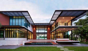 SB2011 – Nhà biệt thự nghỉ dưỡng bằng khung thép nhẹ lắp ghép 2 tầng