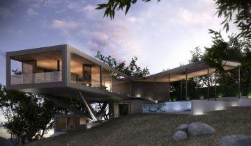 SB1014 – Nhà biệt thự nghỉ dưỡng bằng khung thép nhẹ lắp ghép 1 tầng