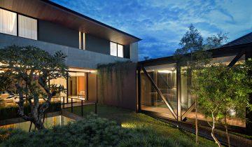 SB2048 – Nhà biệt thự vườn hiện đại bằng khung thép 2 tầng lắp ghép
